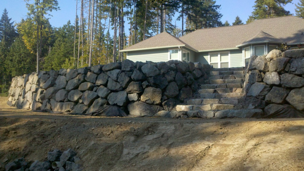 Landscape Boulders Tacoma : Barriers privacy screens fencing levy s lawns landscaping
